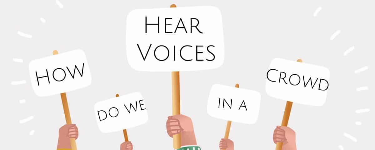 How Do We Hear Voices in a Crowd?